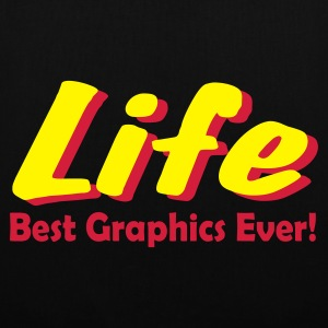 Black LIFE. Best Graphics Ever! Accessories - Tote Bag