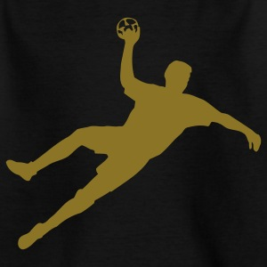 Schwarz Handball Kinder - Teenager T-Shirt