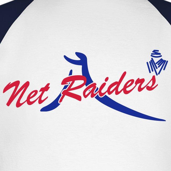 Uomo: T-Shirt m.Lunga Bianca/Navy - Logo a colori sul retro