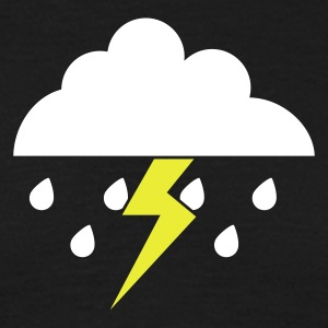 Rain and lightning NL - Mannen T-shirt