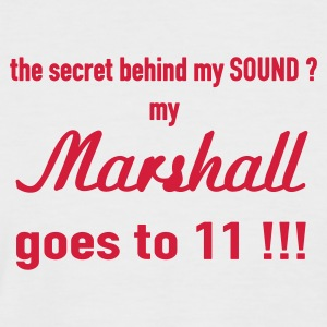 Weiß/rot Secret of my sound - 2farbig T-Shirt - Männer Baseball-T-Shirt