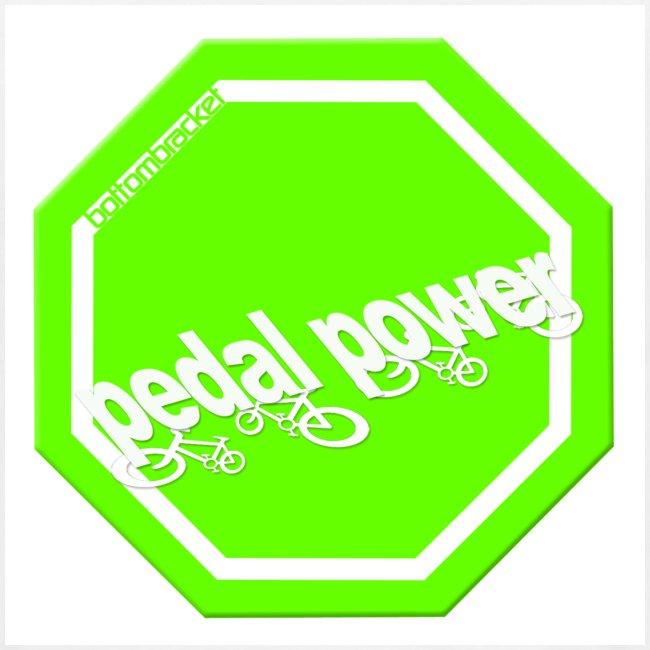 Hi Viz Pedal Power - print on back
