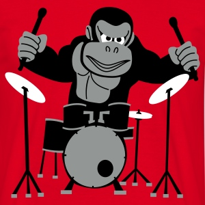 Drumming Gorilla T-Shirt  - Men's T-Shirt