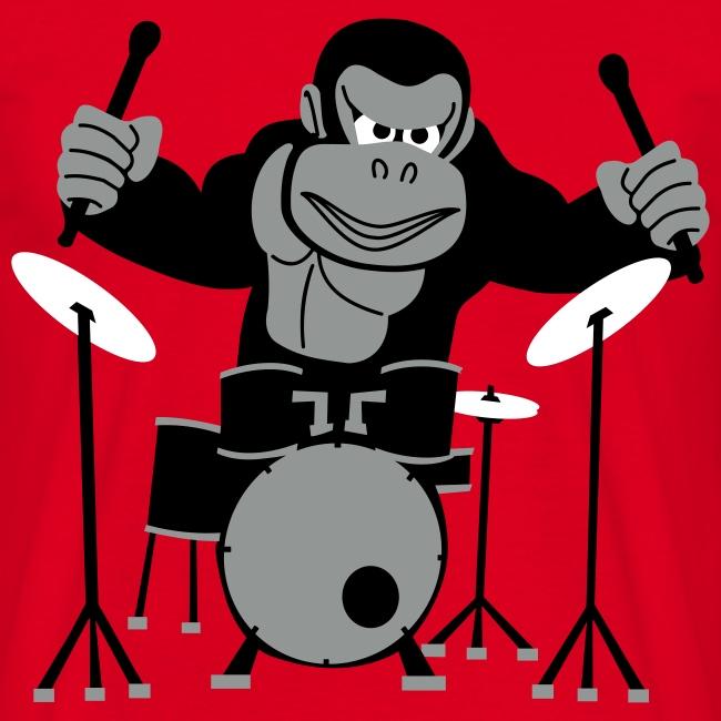 Drumming Gorilla (Red)