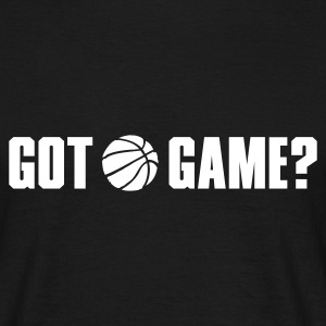 Svart got game? basketball T-shirts (kort ärm) - T-shirt herr