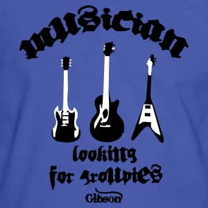 Blue/white Musician Looking for Groupies T-Shirts - Men's Ringer Shirt