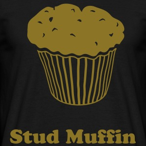 Black Fancy a muffin? T-Shirts - Men's T-Shirt