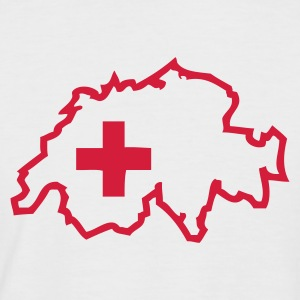 White/red Switzerland T-Shirts - Men's Baseball T-Shirt