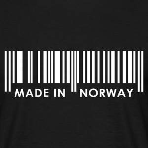 Black Bar Code Made in Norway T-Shirts - Men's T-Shirt