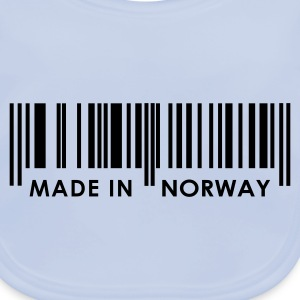 Sky blue Bar Code Made in Norway Juniors - Baby Organic Bib