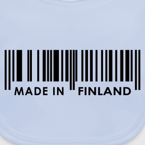 Sky blue Bar code Made in Finland Juniors - Baby Organic Bib