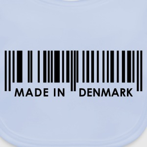 Sky blue Bar Code Made in Denmark Juniors - Baby Organic Bib