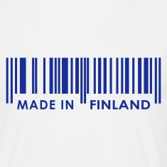 White Bar code Made in Finland T-Shirts