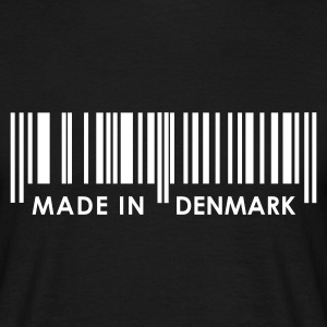 Black Bar Code Made in Denmark T-Shirts - Men's T-Shirt