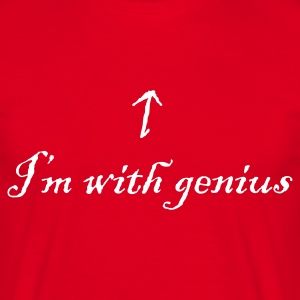 I'm with genius - Men's T-Shirt