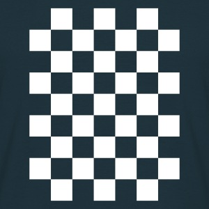 Navy check T-Shirts - Men's T-Shirt