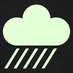 Black weather symbol - cloud & rain T-Shirts - Men's T-Shirt