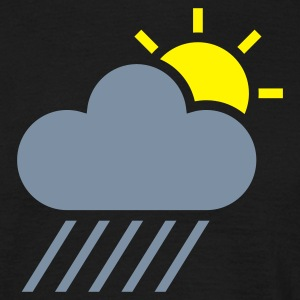 Black weather symbol - sun could rain T-Shirts - Men's T-Shirt