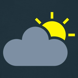 Navy weather symbol - sun & cloud T-Shirts - Men's T-Shirt