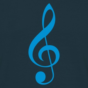 Navy G-Clef T-Shirts - Men's T-Shirt