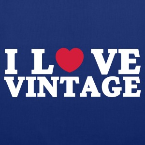 Bleu royal i love vintage Sacs - Tote Bag