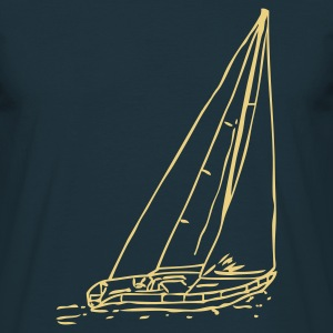 Navy sailboat1 T-Shirt - Männer T-Shirt