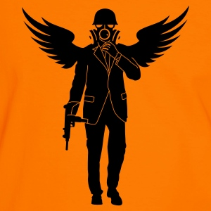 Orange/schwarz business death T-Shirt - Männer Kontrast-T-Shirt