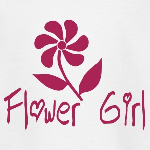 White Flower Girl Juniors - Teenage T-shirt