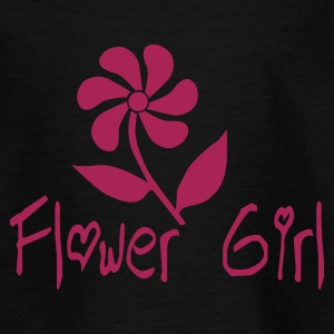 Black Flower Girl Juniors - Teenage T-shirt
