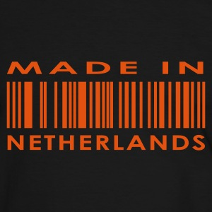 Zwart/wit Made in Netherlands / Nederland Heren t-shirts - Mannen contrastshirt