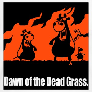 White/black DAWN of the DEAD GRASS! T-Shirts - Men's Ringer Shirt