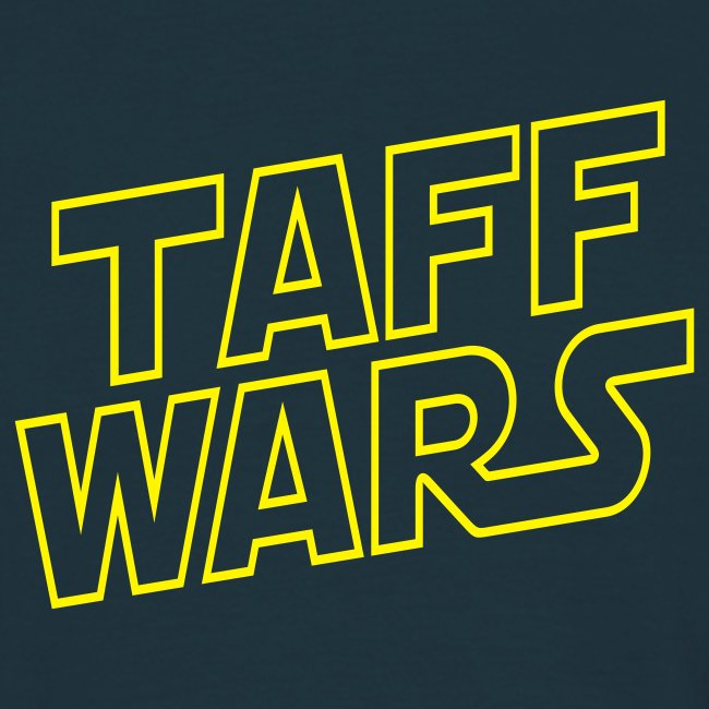 Taff Wars NAVY comfort t-shirt with text on back