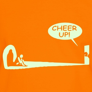 Orange/black Cheer Up T-Shirts - Men's Ringer Shirt