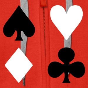 Playing Cards - Men's Premium Hooded Jacket