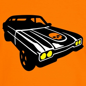 Orange/schwarz devils ride T-Shirt - Männer Kontrast-T-Shirt