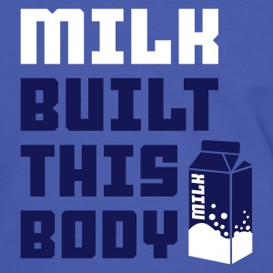 Blau/weiß milk built this body T-Shirt - Männer Kontrast-T-Shirt