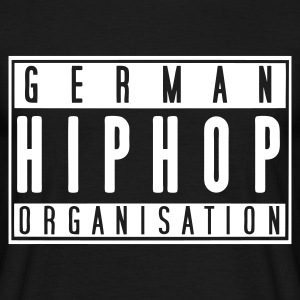 German Hiphop Organisation (schwarz) - Männer T-Shirt
