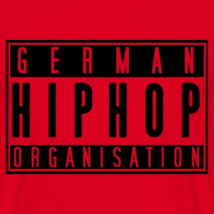 German Hiphop Organisation (rot) - Männer T-Shirt
