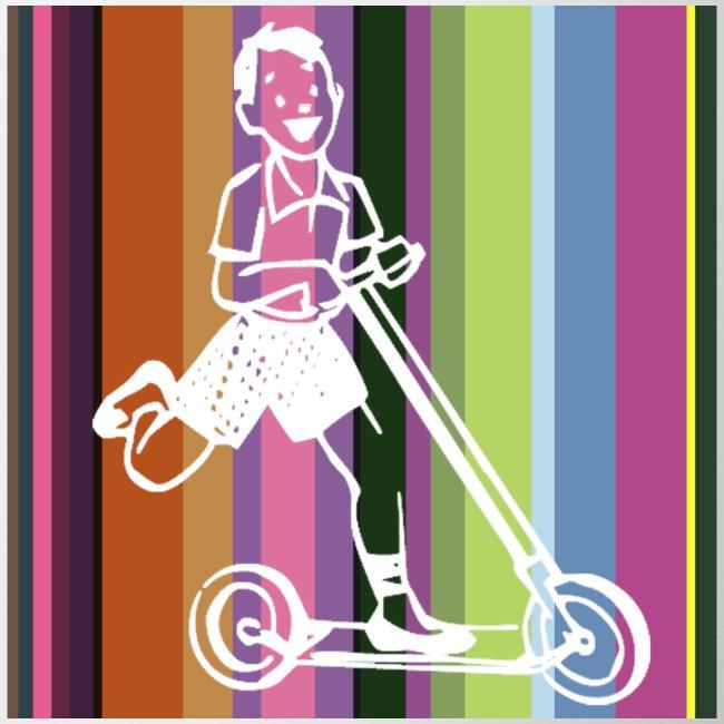 Roller-Junge