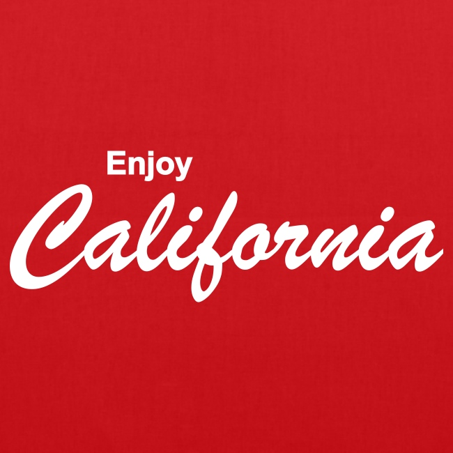 "Stofftasche ""ENJOY CALIFORNIA"" rot"