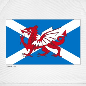 White/white Scotland Wales Mixed Flag Caps & Hats - Baseball Cap