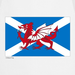 White Scotland Wales Mixed Flag  Aprons - Cooking Apron