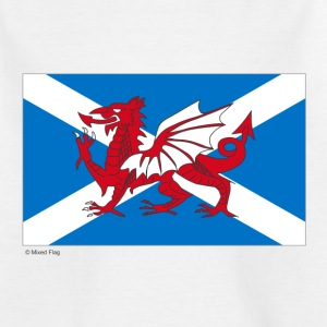 White Scotland Wales Mixed Flag Kid's Shirts  - Teenage T-shirt