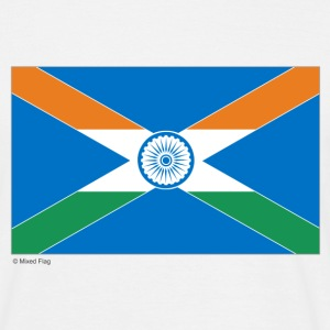 White India Scotland Mixed Flag Men's Tees - Men's T-Shirt
