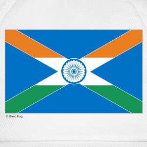 White/white India Scotland Mixed Flag Caps & Hats - Baseball Cap