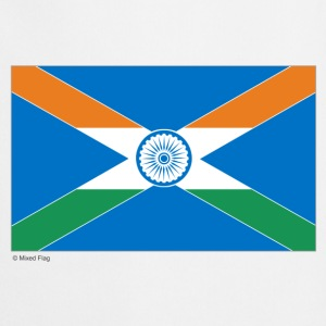 White India Scotland Mixed Flag  Aprons - Cooking Apron