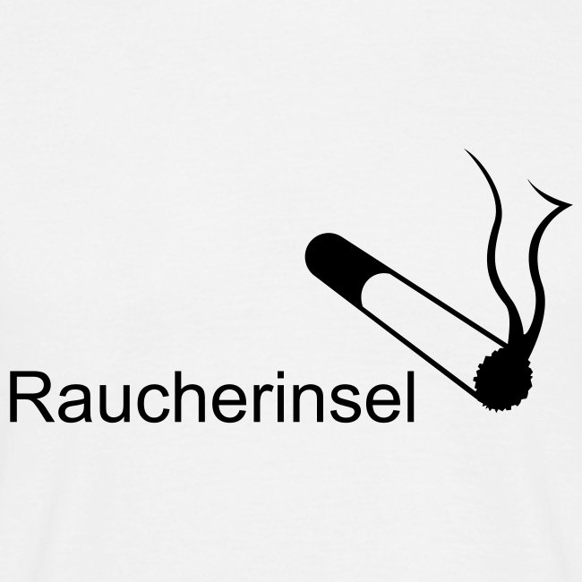 "Comfort-T-Shirt ""Raucherinsel"""