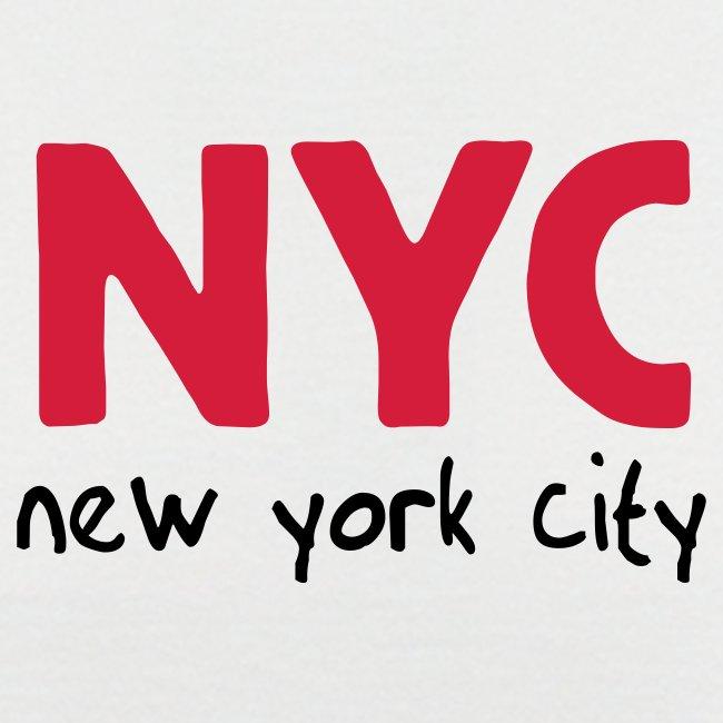 """T-Shirt """"NYC"""" weiß/schwarz"""