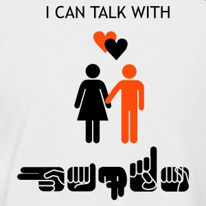 I can talk with hands - Männer Baseball-T-Shirt