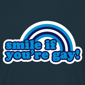 Navy smile if you're gay T-Shirt - Männer T-Shirt